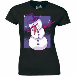 Snowman Christmas Winter Dance Funny T-shirt Tee
